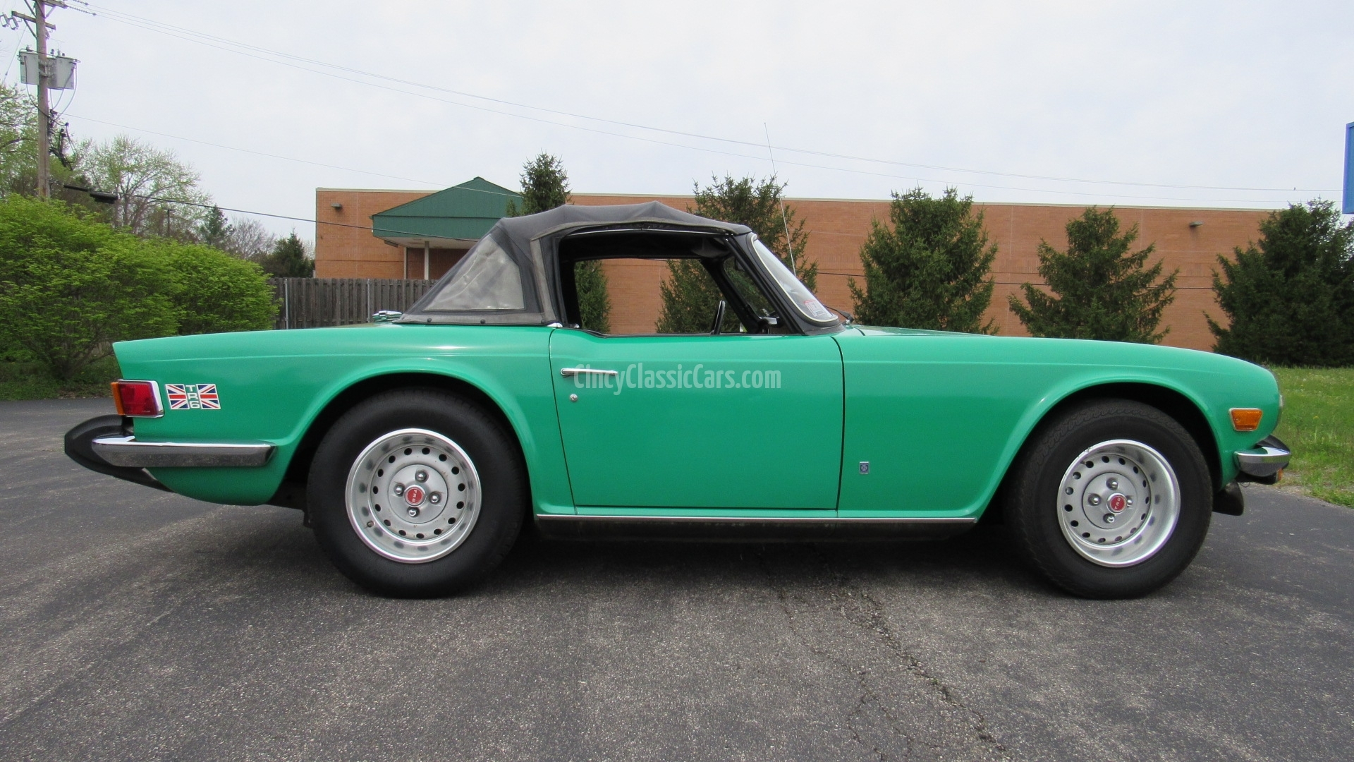 1976 TR6, 32K Miles, Original, Java Green, SOLD!   Cincy Classic Cars